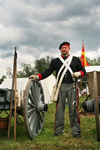 Cannons in the Allied Encampment