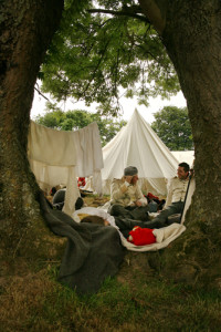 Relaxing in the allied Encampment